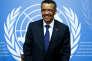 Tedros Adhanom Ghebreyesus, le nouveau directeur général de l'OMS, le 24 mai, à Genève.