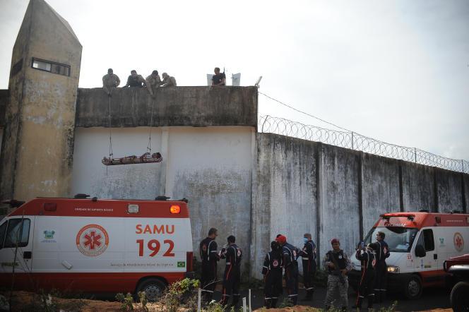 A la prison d'Alcacuz en janvier, après une mutinerie.