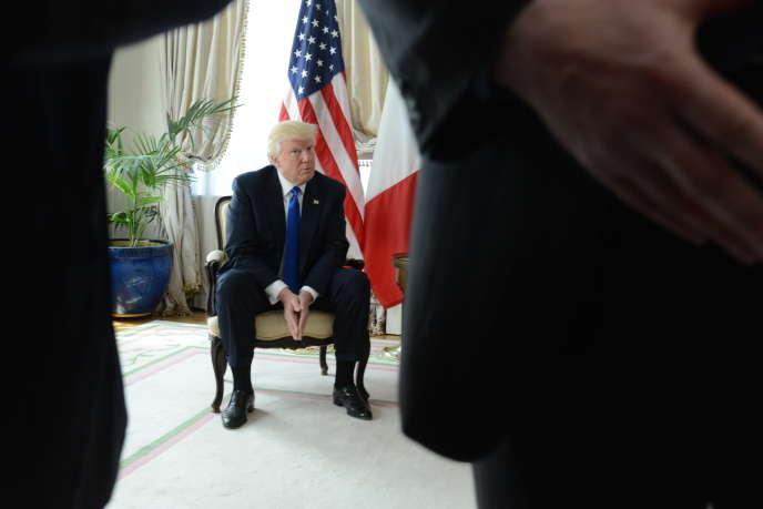 Donald Trump à l'ambassade des Etats Unis à Bruxelles le 25 mai.