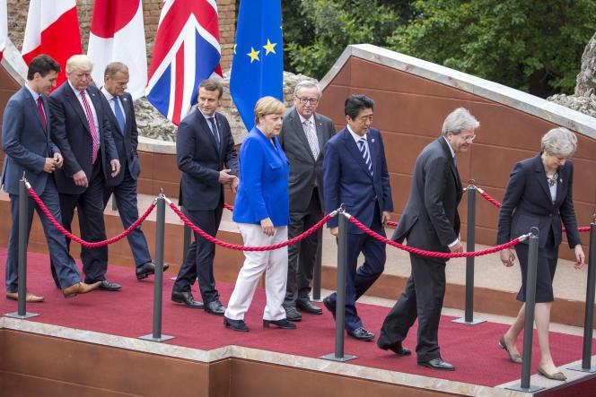 Réunion des chefs d'Etat et de gouvernement des pays du G7 à Taormine (Italie) le 26mai.