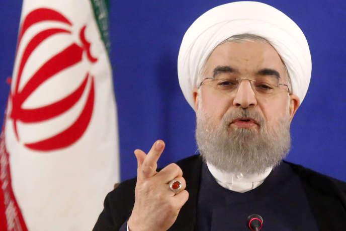 « Pour assurer sa réélection, M.Rohani a dû basculer sur sa gauche, vers les réformateurs, bien plus qu'il ne l'entendait en début de campagne» (Photo: Le président iranien Hassan Rohani lors d'une conférence de presse à Téhéran le 22mai).