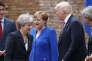 La première ministre britannique Theresa May, la chancelière allemande Angela Merkel et le président américain Donald Trump, au sommet du G7 à Taormine (Italie), le 26 mai 2017.