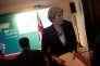 Theresa May à la réunion du G7, à Taormine, en Sicile, le 26 mai.