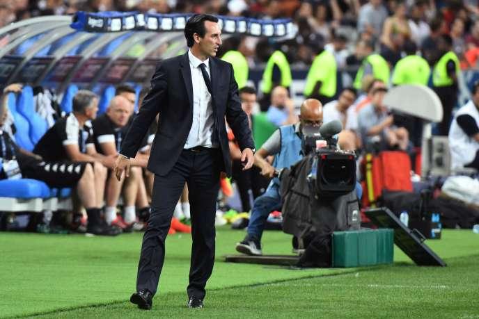 L'entraîneur parisien Unai Emery, samedi 27 mai, lors de la finale de la Coupe de France.