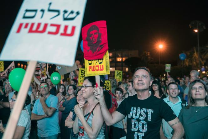 Le rassemblement samedi soir a vu affluer les orphelins de la paix, refusant d'en faire le deuil, croyant possible le renouveau de la solution à deux Etats.
