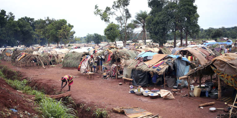 Camp de déplacés de Bria, en Centrafrique en mai 2017.