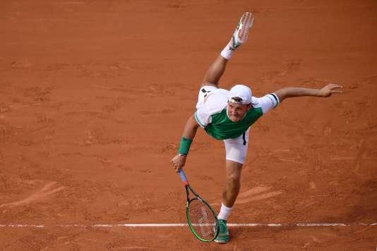Lucas Pouille, le 28 mai à Roland-Garros.