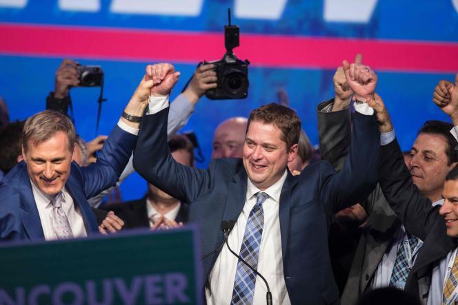 Andrew Scheer après son élection à la tête du Parti conservateur du Canada, à Toronto, le 27 mai 2017.