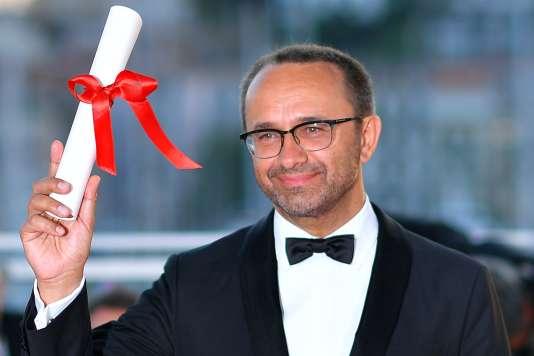 Le réalisateur russe Andreï Zviaguintsev, lauréat du prix du jury pour son film«Faute d'amour» («Loveless») au 70e Festival de Cannes, le 28 mai 2017.