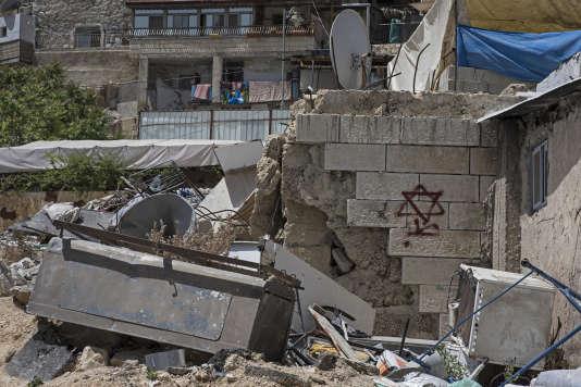 Maisons en ruines à Silwan, Jérusalem-Est.