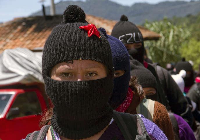 Rassemblement de peuples indigènes mexicains à l'« Université de la Terre», manifestation organisée par l'Armée zapatiste de libération nationale (EZLN), à San Cristobal de Las Casas (Chiapas), le 11 août 2013.
