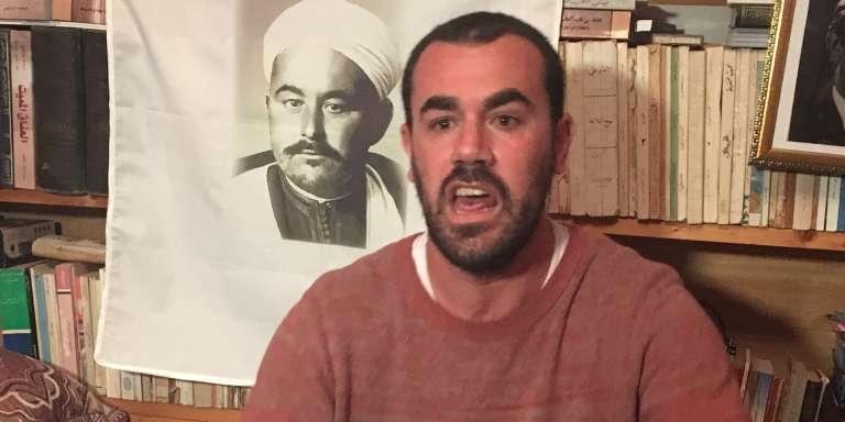 Le militant marocain Nasser Zefzafi en avril 2017 à Al-Hoceima.