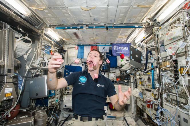 Thomas Pesquet à bord de la Station spatiale internationale, le 23 février 2017. L'Agence spatiale européenne a ouvert une nouvelle campagne de recrutement d'astronautes le 31 mars 2021.