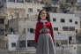 Une écolière de Silwan, Jérusalem-Est. Tous les jours, elle monte une centaine de marches pour se rendre à l'école.