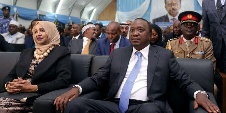Le président Uhuru Kenyatta lors d'un voyage en Somalie, le 22 février 2017.