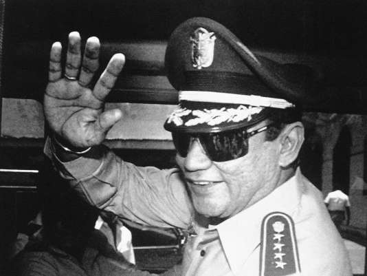 Le général Noriega à Panama City, le 31 août 1989.