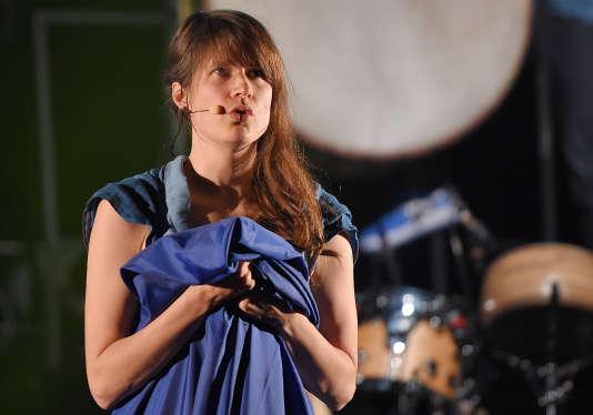 Camille, sur la scène du Printemps de Bourges, le 19avril2017.