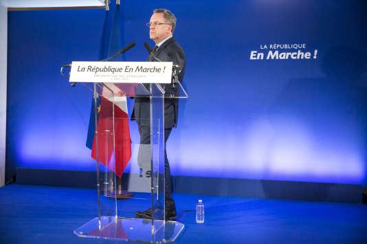 Richard Ferrand au QG de La République en marche à Paris, le 11 mai.