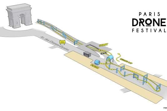 Le circuit des Champs-Elysées mesure 600 mètres
