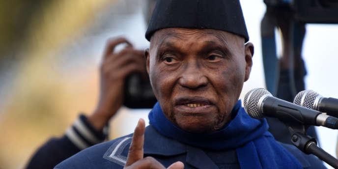 L'ancien président sénégalais Abdoulaye Wade en 2015 à Dakar.
