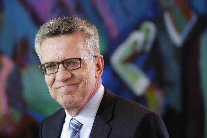 Le ministre de l'intérieur allemand, Thomas de Maizière, le 31 mai 2017.