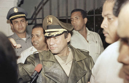 Manuel Noriega, à Panama, en mars 1988.