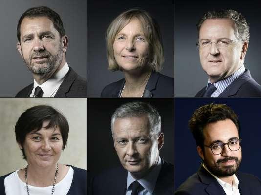 Les six ministres du gouvernement d'Edouard Philippe qui sontcandidats aux élections législatives.