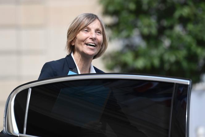Marielle de Sarnez, devant l'Elysée, à Paris, le 31 mai 2017.