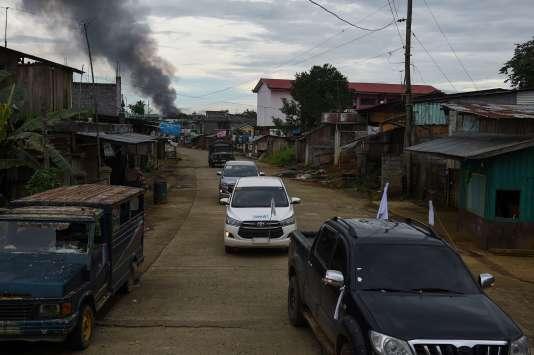 A Marawi, dans le sud des Philippines, théâtre d'affrontements armés entre militaires et rebelles djihadistes depuis le 23 mai 2017.