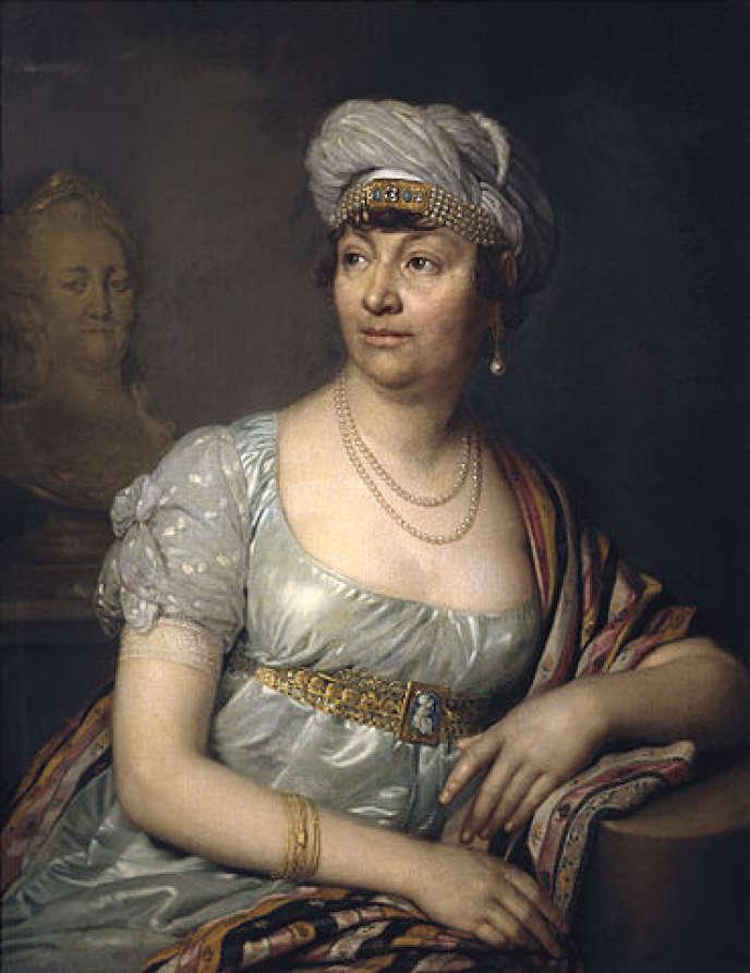 Portrait de Germaine de Staël (1812) par Vladimir Borovikovsky.