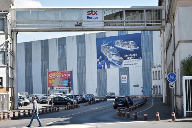 «La France perd massivement des parts de marché à l'exportation depuis 1999, dernier point haut de notre position dans le commerce mondial, et le déficit du commerce extérieur se creuse depuis 2004» (Photo: construction navale, Saint-Nazaire).
