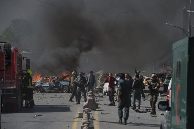 L'explosion a eu lieu à proximité de l'ambassade d'Allemagne, dans le quartier diplomatique qui abrite également des bureaux du gouvernement.