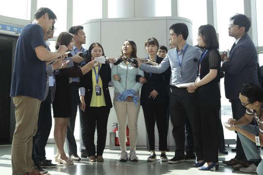 Pour le tribunal qui a ordonné sa libération, Chung Yoo-ra n'a pas pris une part active dans le processus de corruption.