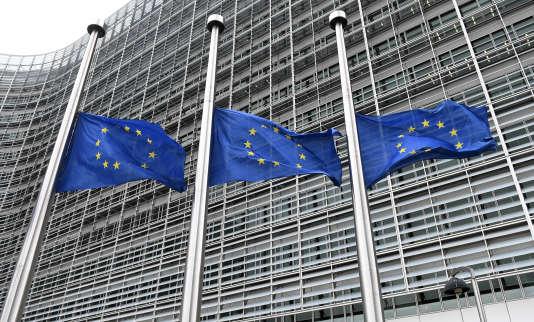 Siège de la commission européenne en avril.