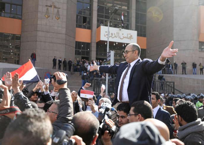Khaled Ali au Caire, le 16 janvier. L'avocat égyptien est poursuivi pour«outrage à la morale publique».