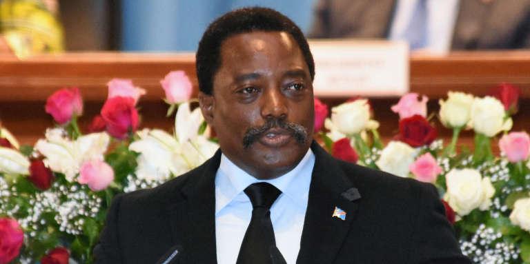 Le président de la République démocratique du Congo Joseph Kabila, au Palais du peuple, à Kinshasa, le 5 avril 2017.