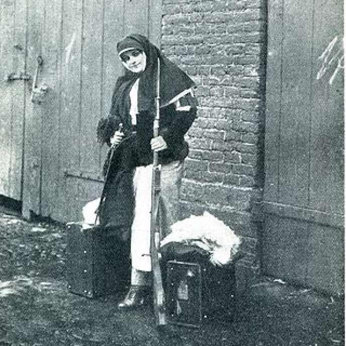 Nadejda Teffi pendant la première guerre mondiale.