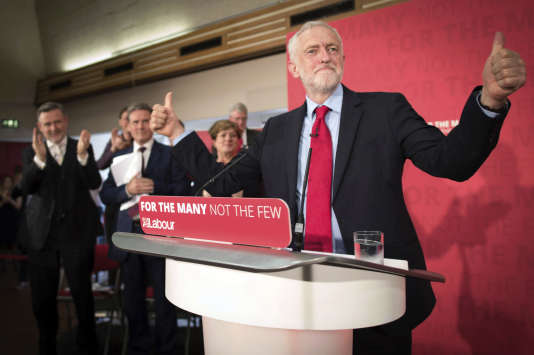Le leader travailliste Jeremy Corbyn, lors de son meeting jeudi 1er juin.