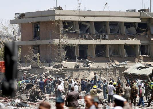 Devant l'ambassade allemande, à Kaboul, le 31 mai.