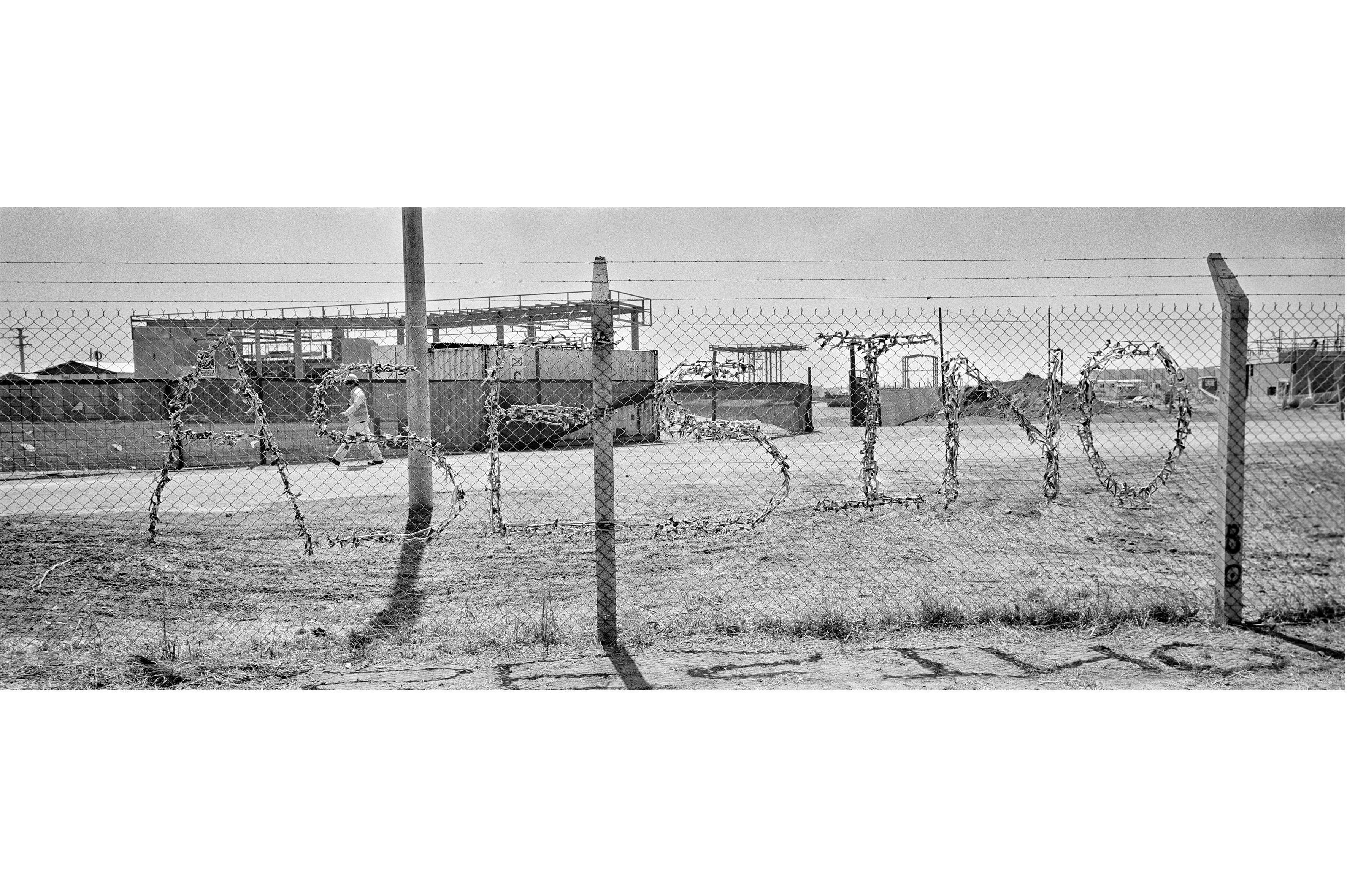 Sur la clôture de l'usine de Monsanto de Cordoba a été tracé me mot«assassin», en octobre 2012.