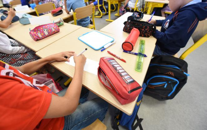 Dans une école primaire de Bordeaux, en septembre 2016.