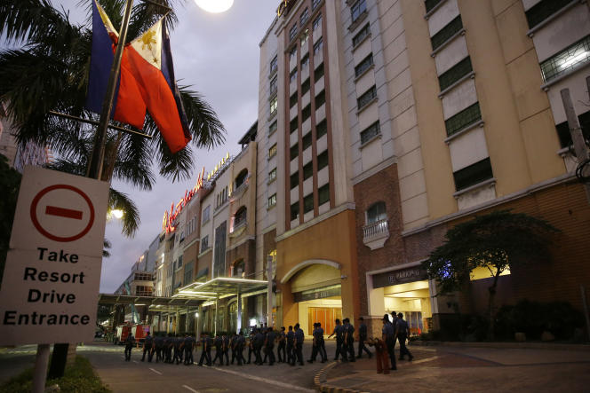 Le complexe hôtelier Resorts World, proche de l'aéroport international, le 2 juin à Manille.