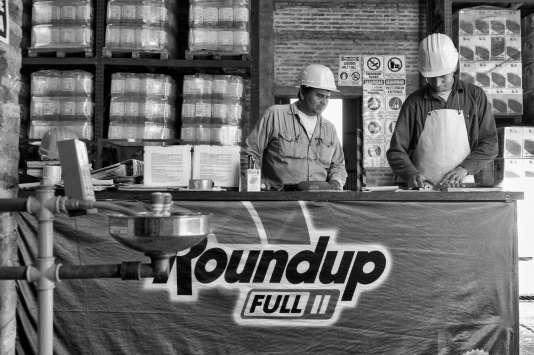 Un entrepôt de Monsanto à Charata (province du Chaco, Argentine).