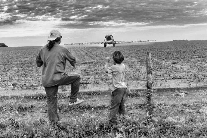 En Argentine, troisième producteur mondial de soja, l'usage des pesticides est très répandu, comme ici dans les champs de la province de Santiago del Estero.