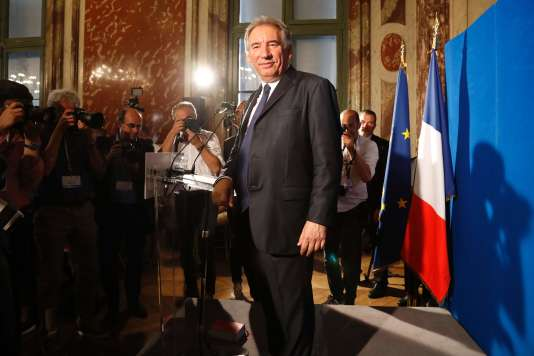Le ministre de la justice François Bayrou, le 1er juin 2017.