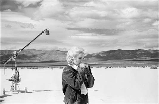 Marylin Monroe sur le tournage des «Misfits» (John Huston, 1960).