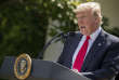 President Donald Trump speaks about the U.S. role in the Paris climate change accord, Thursday, June 1, 2017, in the Rose Garden of the White House in Washington. (AP Photo/Andrew Harnik)