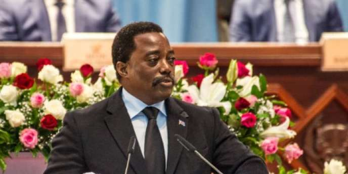 Le président congolais Joseph Kabila lors d'un discours à la nation au palais du Peuple, à Kinshasa, le 5 avril 2017.