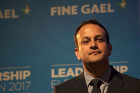 Leo Varadkar, après son élection à la tête du Fine Gael (centre droit), à Dublin, le 2 juin.