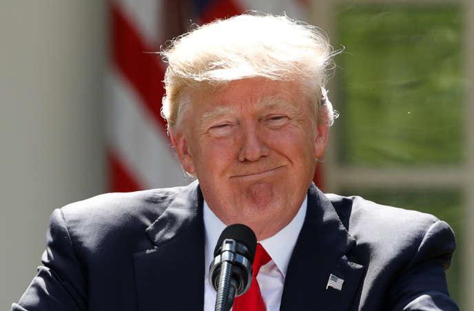 Le président américain Donald Trump annonce sa décision de retirer les Etats-Unis des accords de Paris. Le 1er juin 2017.